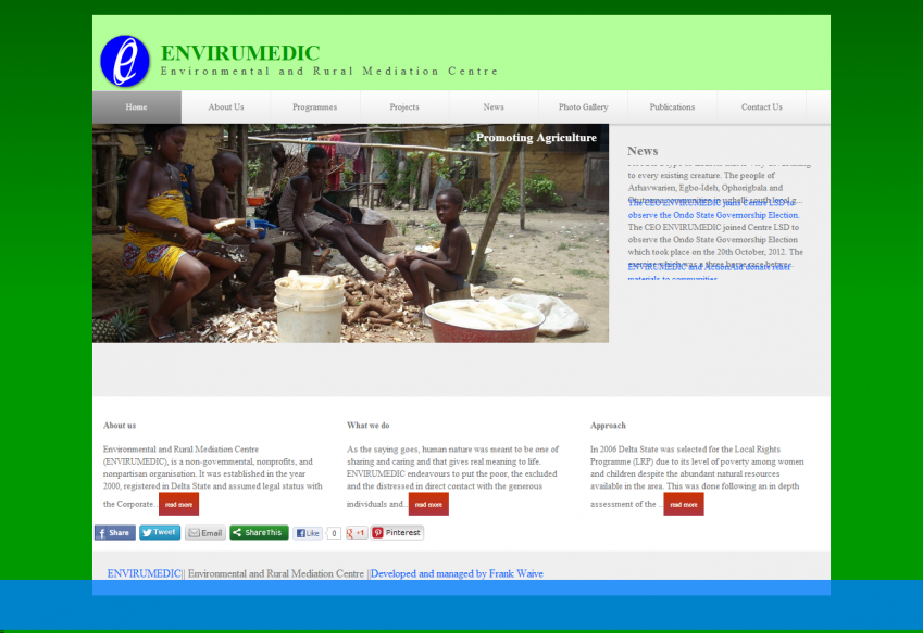 ENVIRUMEDIC - web design, photo gallery, seo, cms