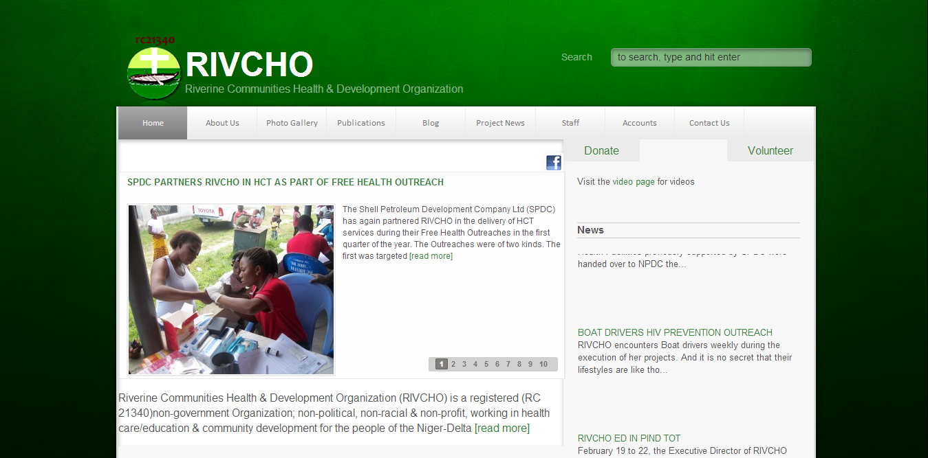RIVCHO -- Riverine Communities Health Organization